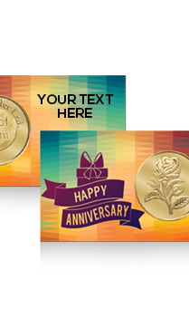 Customiged Anniversary Rose Gold Coin