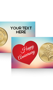 Anniversary Greetings Rose Gold Coin