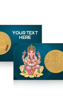 Lord Ganesh Laxmi Gold Coin