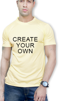 Effit Create Your Own Yellow Mega Print T-Shirt