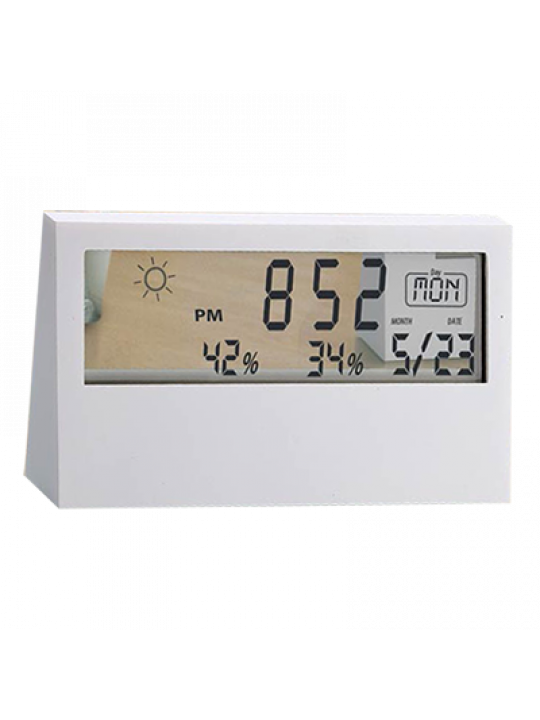 Business Sharp Weather Station Clock With See-Thru Display - A105