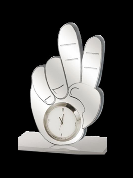 Customize Silver Clock BTC-4163 Silver