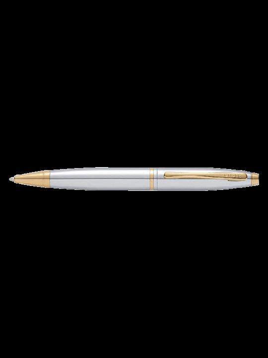 Cross AT0112-15 Calais Chrome W 23Karat Gold Electroplate