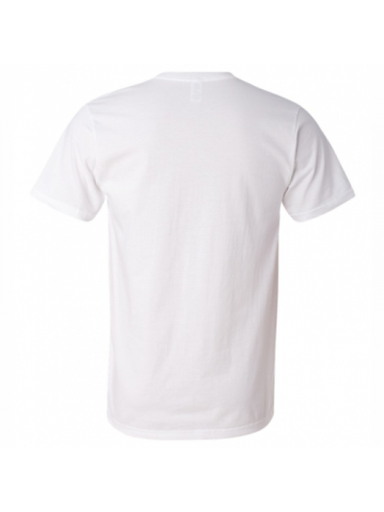 White Side Print V-Neck Dry-Fit T-Shirt