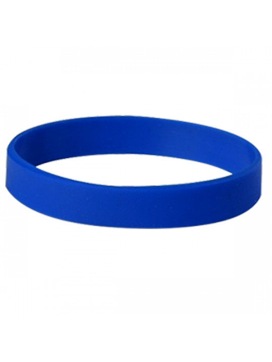 Happy Christmas Blue Silicon Wristband