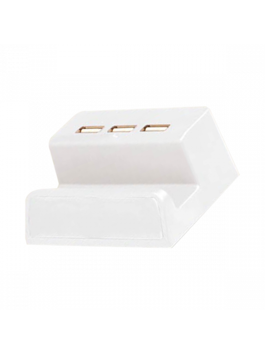 PowerGlow 3 USB hub with mobile stand and logo highlight (Top USB)-C85