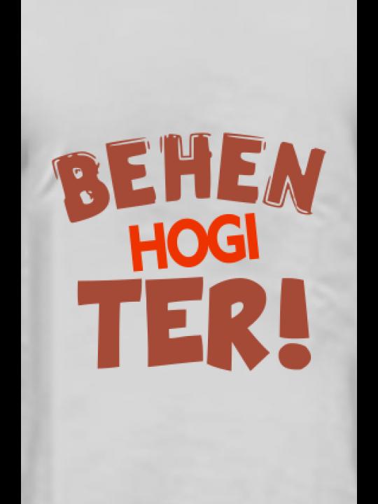 Behen Hogi Teri Half Sleeves Light Gray Round Neck Cotton Effit T-Shirt