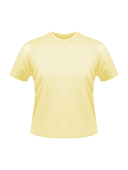 Yellow Side Print Round-Neck Dry-Fit T-Shirt- Business