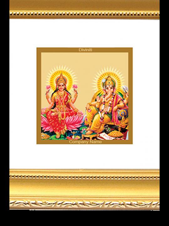 Gold Plated Laxmi Ganesh Frame Dg - 1B