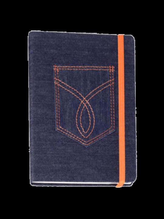 Hard Cover Premium Leatherite denim Blue Notebook X316
