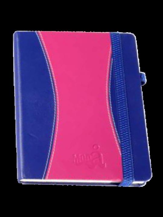 Hard Cover Premium Leatherite Pink & Dark Blue Notebook X303