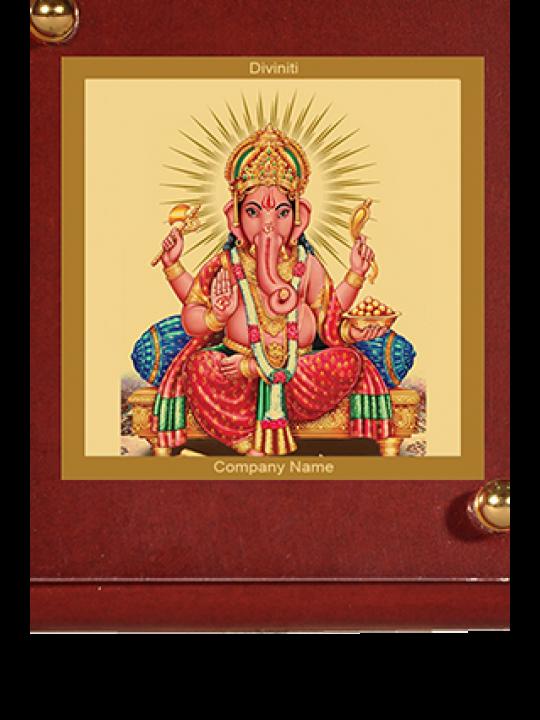 Printed Ganesha Car Frame Mdf 1B