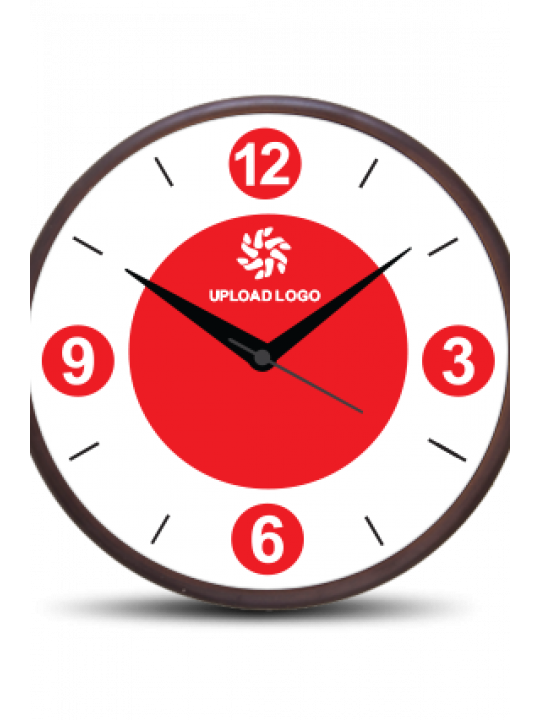 Awesome Red Wooden Wall Clock