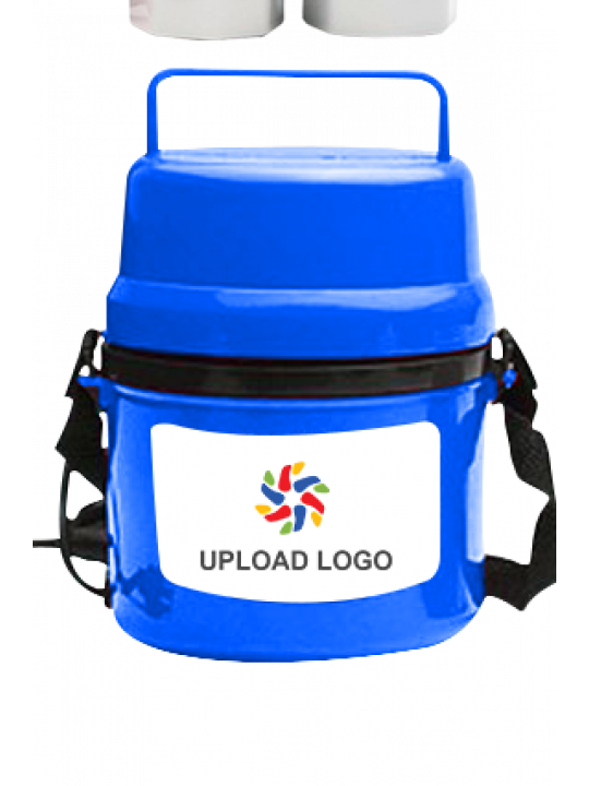 Upload Logo Electra Lunch Box H06 Blue