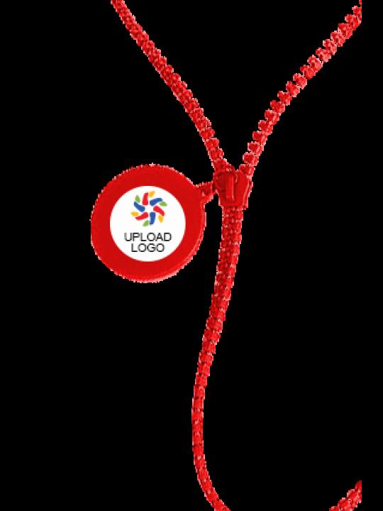 Upload Logo Zipper Lanyard E-99