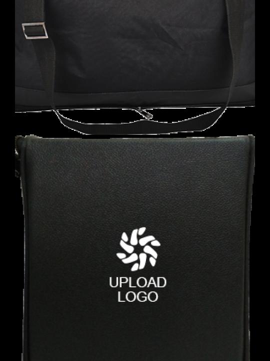 Upload Logo Folding Leatherette travel bag E-131