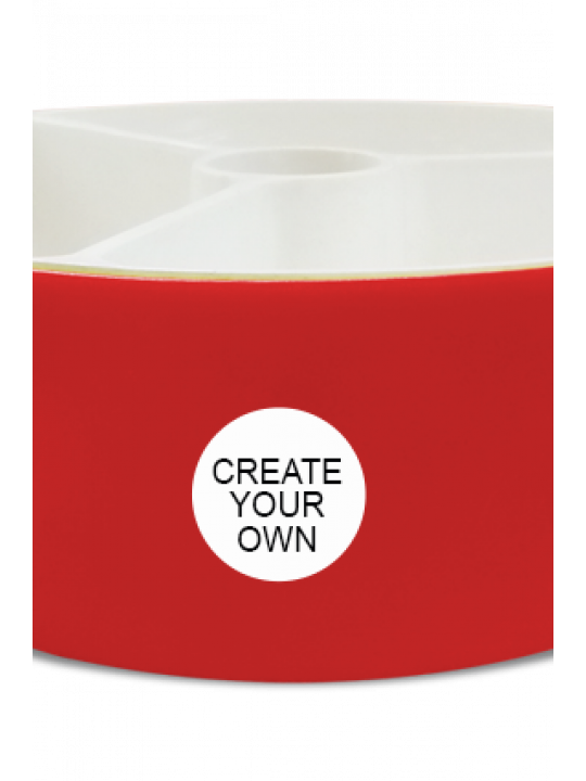 Create Your Own Trio Serving Bowl H79 Red