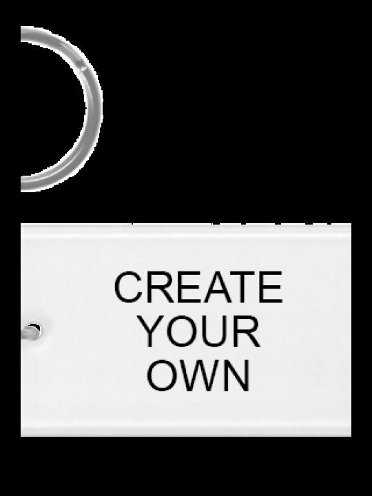 Create Your Own Acrylic Rectangle Key Chain