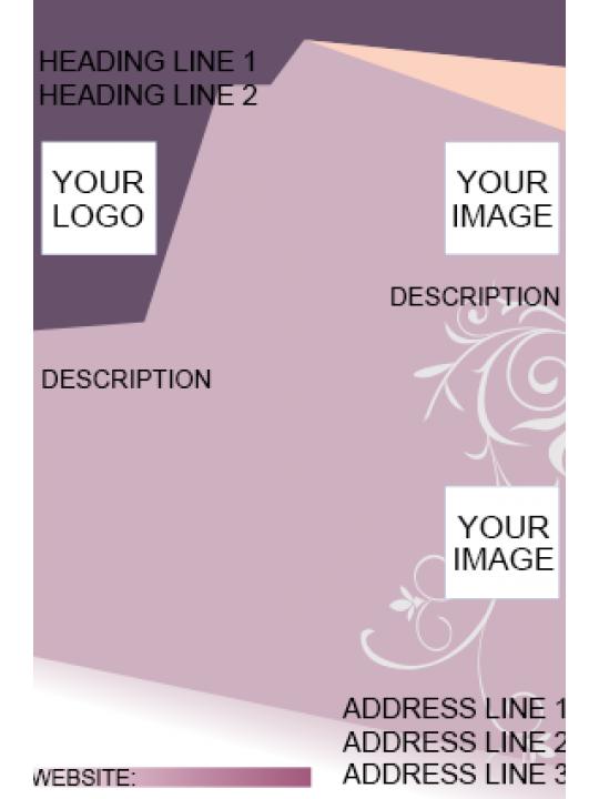 Purple Color Flyer