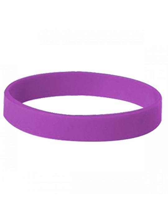 Happy New Year Purple Silicon Wristband