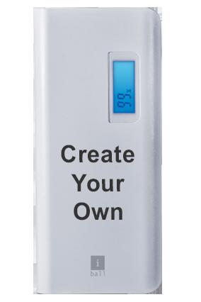 Create Your Own iBall Power Bank 10000 mAh PB10107 (White + Grey)