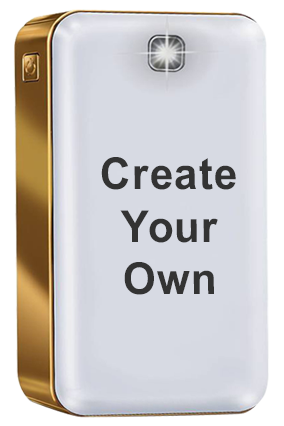 Create Your Own iBall Power Bank 12000 mAh PLM12100 - Polymer Battery (White+Gold)