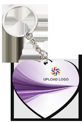 Promotional Purple Heart Key Chain
