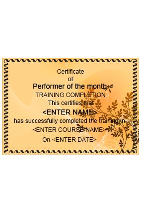 Cuisine Charisma Restaurant Certificate