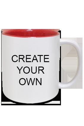 Design Your Own Inside Red Mug