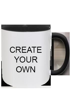 Design Your Own Inside Black Mug With Black Handle