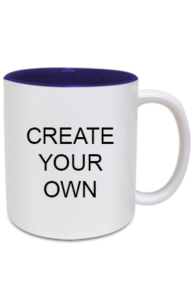 Design Your Own Inside Blue Mug