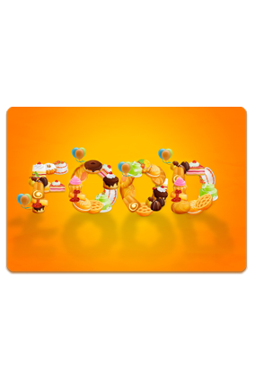 Promotional Gourmand Sunny Orange Table Mat