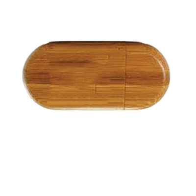 Custom Wooden Oval Pen Drive