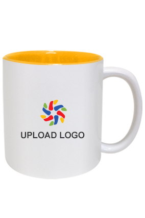 Upload Logo Inside Yellow Mug