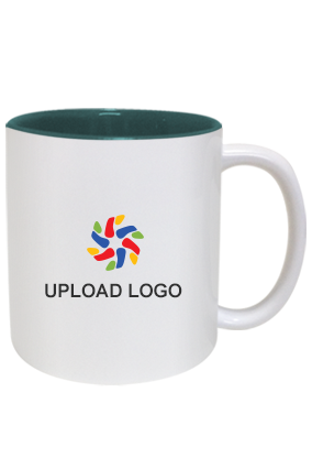 Upload Company Logo Inside Green Mug