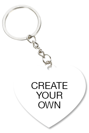 Design Your Own Heart Key Chain