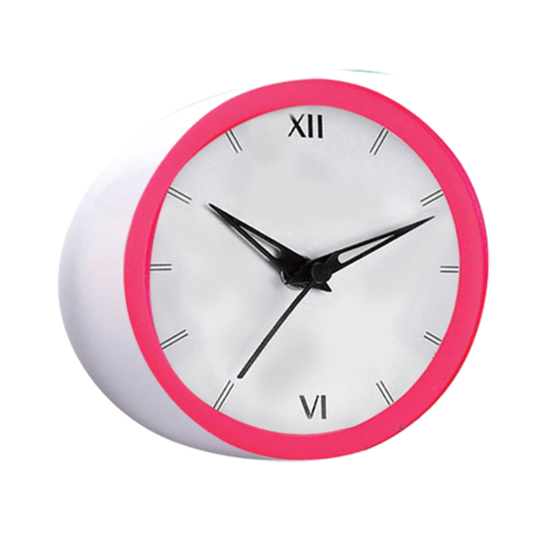 Chipper Table Clock with Fluorescent Ring 5 inch Dial Branding Included MOQ 200pc-A126