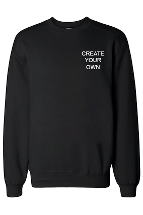 Design Your Own Logo Black Sweatshirt