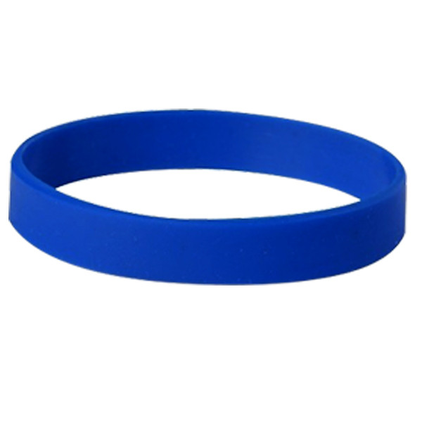 Happy New Year Blue Silicon Wristband