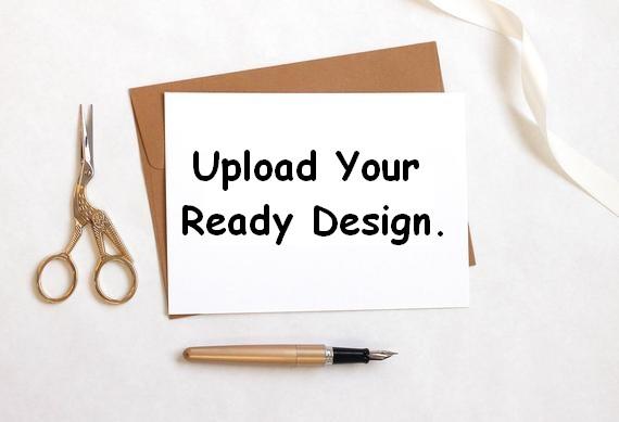 Upload Your Design Landscape Invitation Card - 4 X 8 Inch