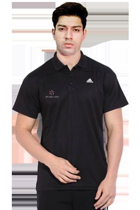 Adidas - Embroidery Polo Black Training T-Shirt - AH9110