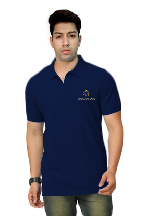 Umbro- Embroidery Polo Navy Blue T-Shirt - 1000558819018