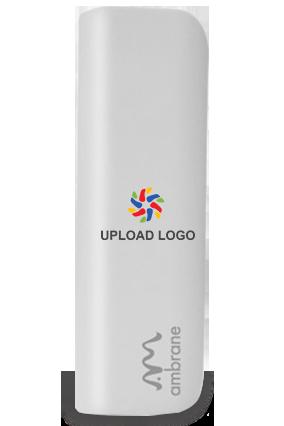 Upload Logo 2200mAh Ambrane Power Bank White