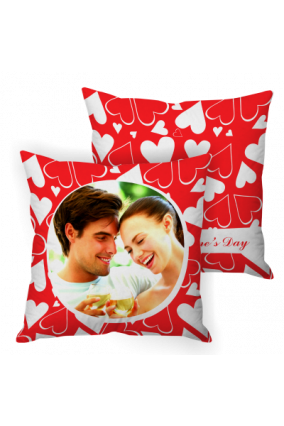 Enigmatic Red Valentine Day Cushion Cover