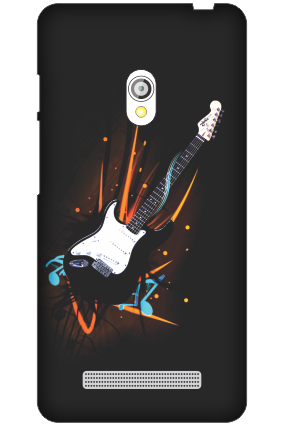 Customized Asus Zenfone 5 Musical Splash Black Mobile Cover