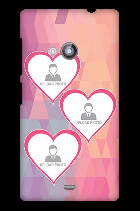Nokia Lumia 535 3 Photos Heart Mobile Cover