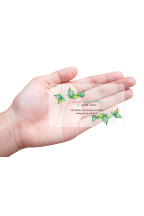 Aspiration Pharmacy Modish Transparent Business card