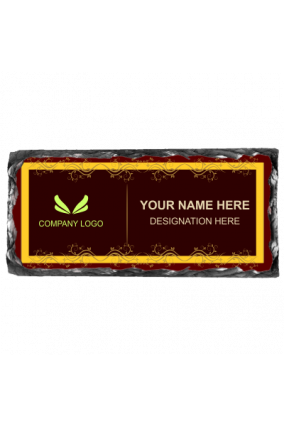 Chocolate Brown Rock Name Plate
