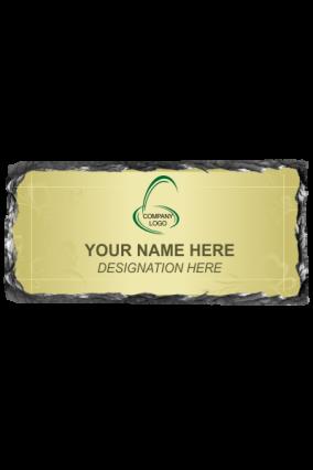 Elegant Green Rock Name Plate