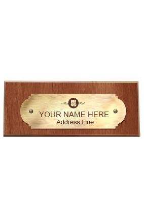 Exquisite Sheen Pine Wood Name Plate